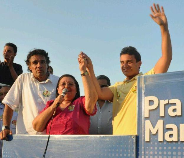 Com Lobão Filho, Glalbert faz campanha com a ex-prefeita Maria do Rosário