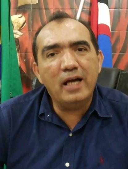 O prefeito de Pedreiras, Totonho Chicote