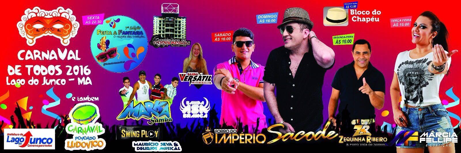 Carnaval de Todos - Lago do Junco 2016
